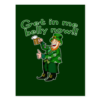 Funny Leprechaun and Beer Tshirt for St. Pat's Postcard