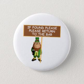 Funny leprechaun button