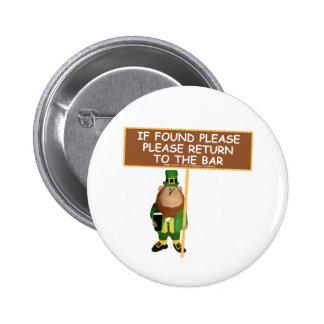 Funny leprechaun 2 inch round button