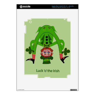 Funny Leprechaun iPad 3 Decal