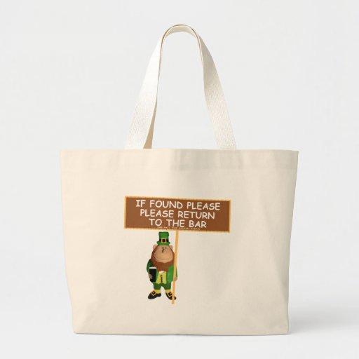 Funny leprechaun jumbo tote bag