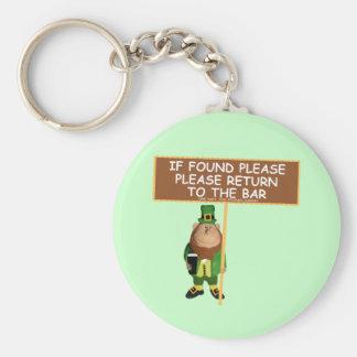 Funny leprechaun keychain