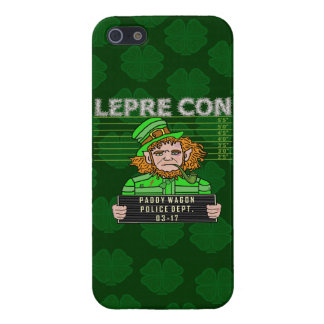 Funny Leprechaun Leprecon Mugshot Covers For iPhone 5
