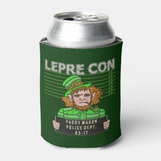 Funny Leprechaun Leprecon Mugshot St Patrick's Day Can Cooler