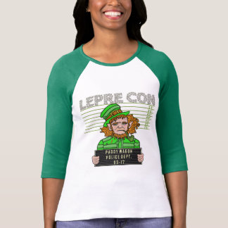 Funny Leprechaun Leprecon Mugshot St Patricks Day T-Shirt