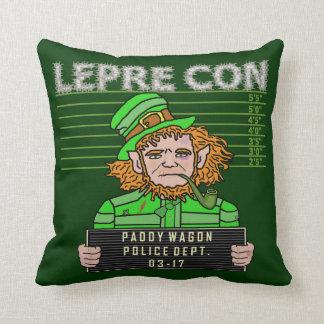 Funny Leprechaun Leprecon Mugshot St Patricks Pillow