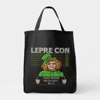 Funny Leprechaun Leprecon Mugshot Tote Bag
