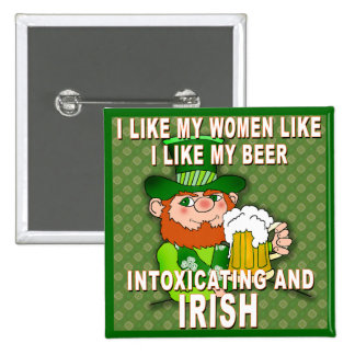 Funny Leprechaun Meme for St Patricks Day 2 Inch Square Button