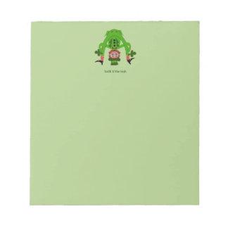 Funny Leprechaun Note Pad
