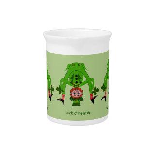 Funny Leprechaun Beverage Pitcher