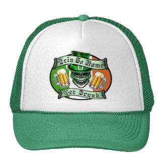 Funny Leprechaun Skull: Erin Go Home Trucker Hats