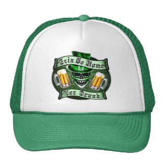 Funny Leprechaun Skull: Erin Go Home Trucker Hat