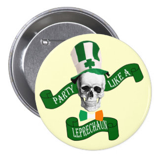 Funny leprechaun St Patrick's day Buttons