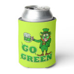 Funny Leprechaun St Patrick's Day Go Green 2 Can Cooler