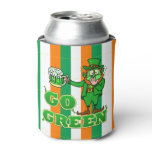 Funny Leprechaun St Patrick's Day Go Green Can Cooler