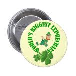 Funny Leprechaun  St Patrick's Day Pinback Button at Zazzle