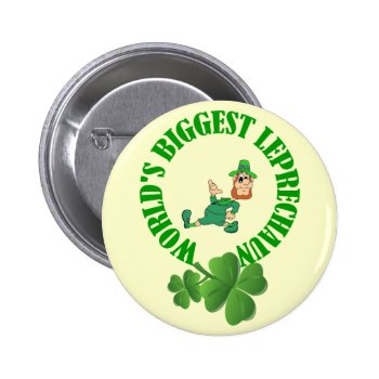 Funny Leprechaun  St Patrick's Day Pinback Button by Paddy_O_Doors at Zazzle