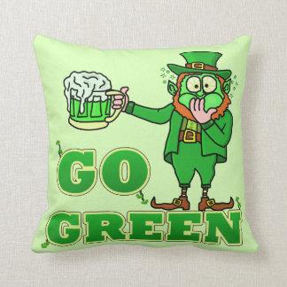 Funny Leprechaun St Patricks Go Green Drink Pillows