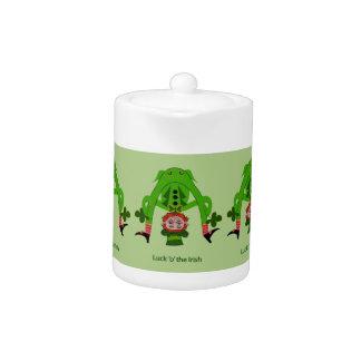 Funny Leprechaun Teapot