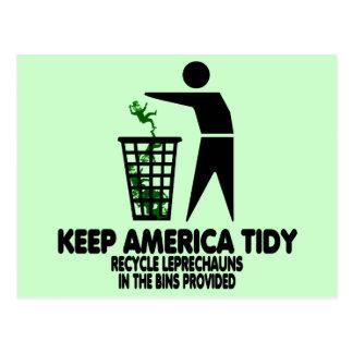 Funny Leprechauns Postcard