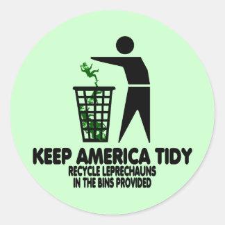 Funny Leprechauns Stickers