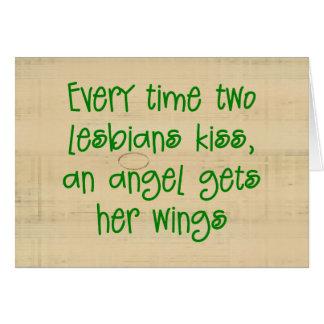 Funny Lesbian Christmas Card