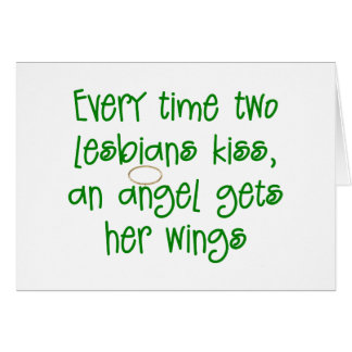 Funny Lesbian Christmas Gift Card