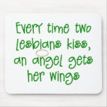 Funny Lesbian Christmas Gift Mouse Pad
