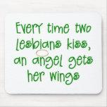 Funny Lesbian Christmas Gift Mousepad