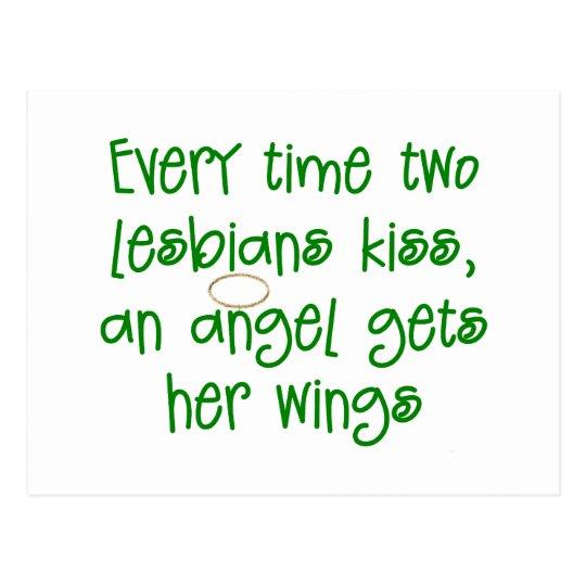 Funny Lesbian Christmas Gift Postcard