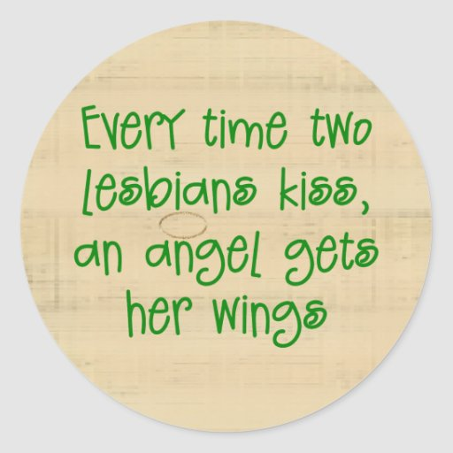 Funny Lesbian Christmas Gift Stickers