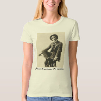 Funny Lesbian Self-Outing Vintage Image T-Shirt