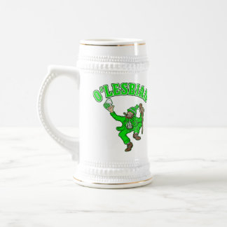Funny Lesbian St. Patrick's Day Gift Beer Stein