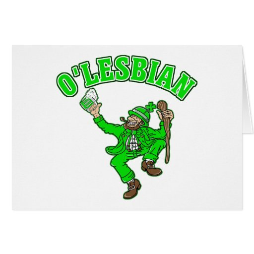 Funny Lesbian St. Patrick's Day Gift Card