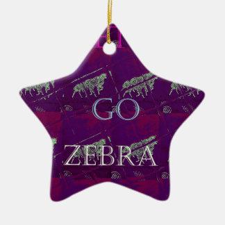 Funny Lets Go Zebra  Hakuna Matata motif Design Co Ceramic Ornament