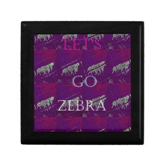 Funny Lets Go Zebra  Hakuna Matata motif Design Co Gift Box