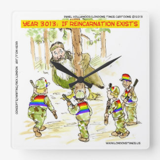 Funny LGBT Vs Giant Duck Square Wall Clock