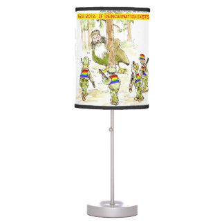 Funny LGBT VS Giant Duck Table Lamp