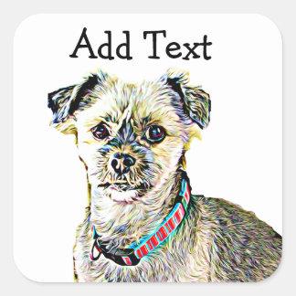 Funny Lhaso Apso or Shitzu Dog Sticker Personalize