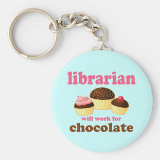 Funny Librarian Keychain