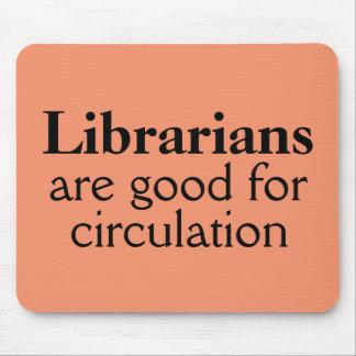 Funny Librarian Mousepad Mouse Mat Circulation Pun