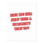 Funny Librarian Pick-Up Line Post Cards