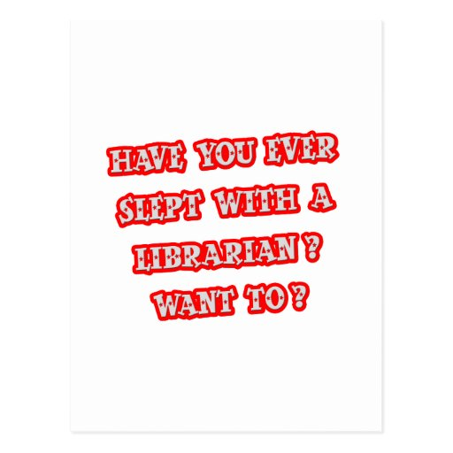 Funny Librarian Pick-Up Line Postcard
