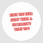 Funny Librarian Pick-Up Line Stickers