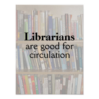 Funny Librarian Pun Library Poster Books on Shelf