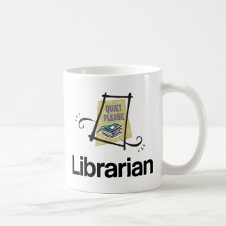 Funny Librarian Quiet Please Library Gift Coffee Mug