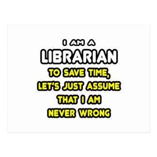 Funny Librarian T-Shirts and Gifts Postcard