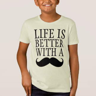 Funny Life is Better With a Moustache Boys Shirt