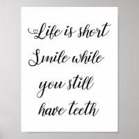 Funny Life Quote, Humorous Saying Wall Art Decor