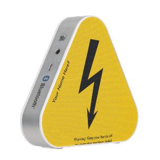 Funny Lightning Bolt Warning Sign Speaker